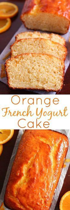 Orange French Yogurt Cake with Orange Marmalade Glaze