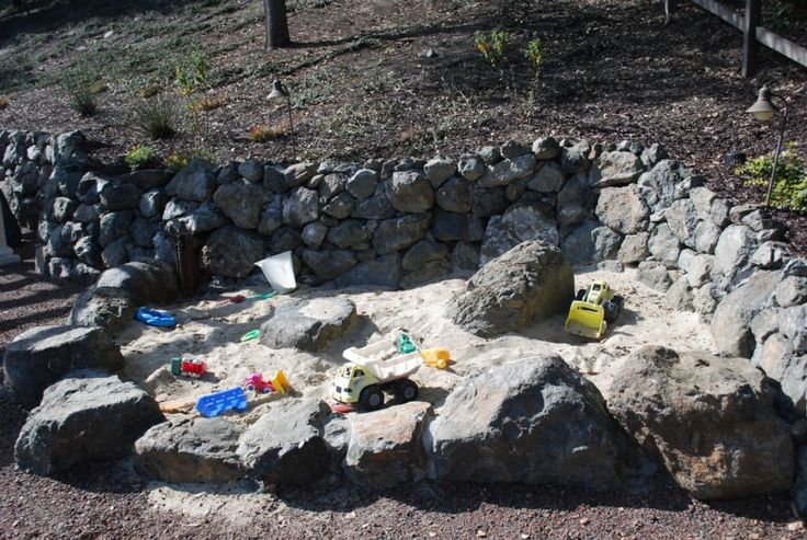 Rock Sand Box. Outdoor spots equipment and toys will get your kids outside ...homeworkshop.com