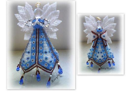beaded Petal Angel. A design by Paula Adams.