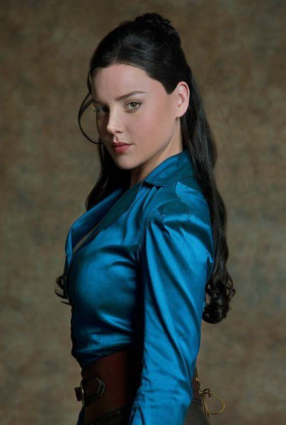 Love the color of this shirt.  Abbie Cornish in Klondike.