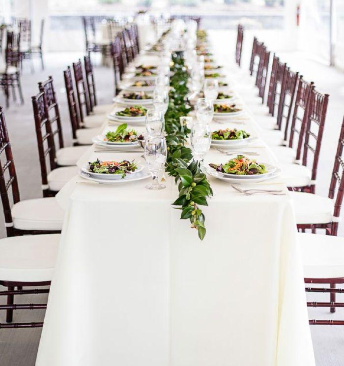 Flowerless Wedding Reception