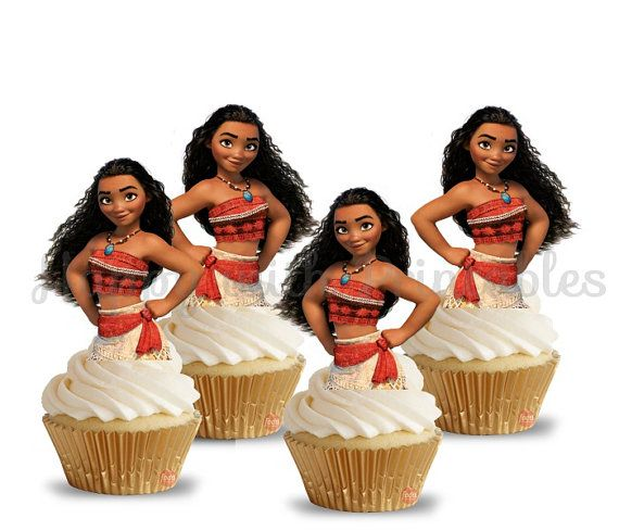 Moana cupcake Toppers Moana torta toppers por HappywithPrintables