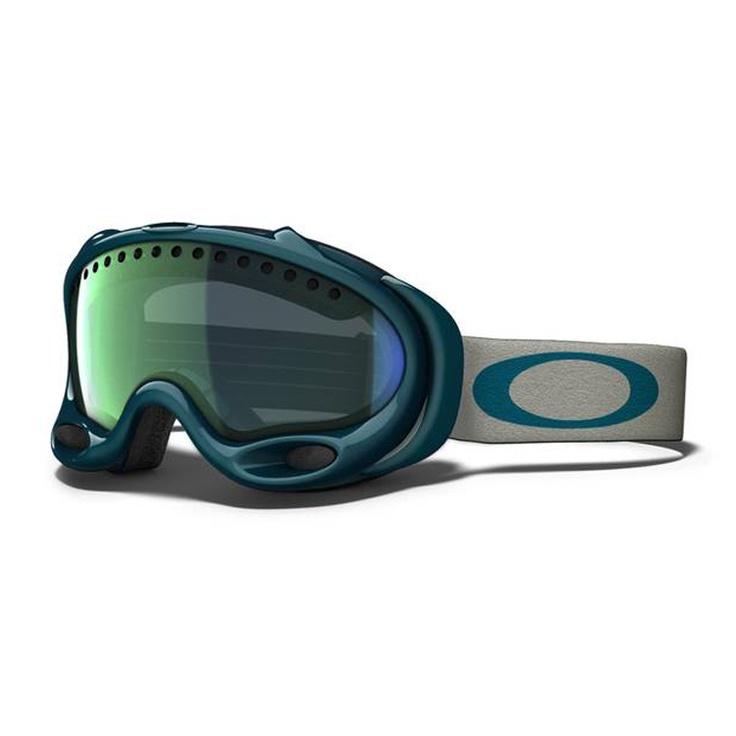 Oakley Goggles - Oakley A Frame Snow Goggles, Forest Green - Emerald Iridium