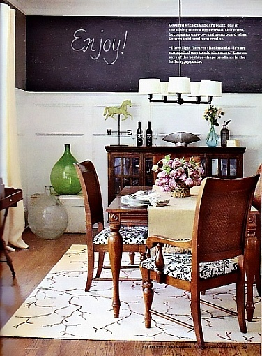 Great idea for Cape downstairs.  Photographed by Lauren Rubinstein...Lauren's dining room for Better Homes and Gardens
