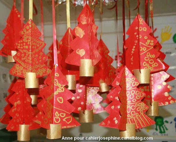Sapin de Noël rouge