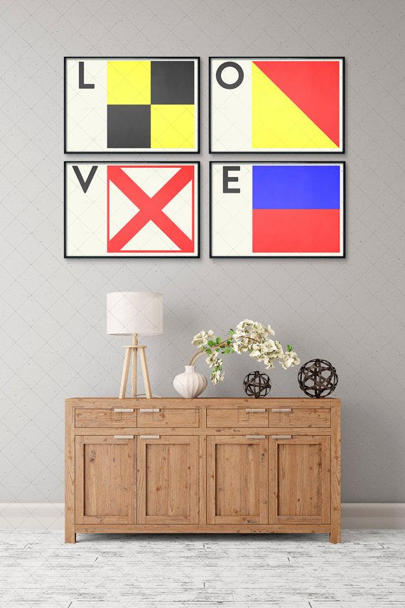 Naval Art Print Letter O Naval Flags Naval Signal by FoundryCo
