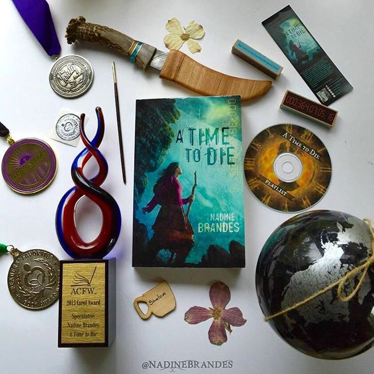 >>Instagram: @NadineBrandes<< It was so cool to collect all the swag and awards I've received for #ATime2Die. God is good. And still blowing my socks off. #bookstagram