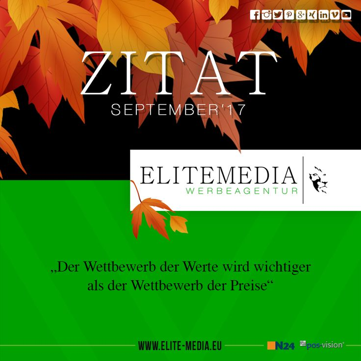 Zitat September 2017 www.elite-media.eu  Alle Zitate auf einem Blick: https://www.facebook.com/pg/elitemediawerbeagentur/photos/?tab=album&album_id=1248016265244074  #elitemediawerbeagentur #elitemedia #werbeagentur #werbung #mannheim #heidelberg #ludwigshafen #zitate #stark #mutig #visionär #design #business #life #follow #art #graphic #creative