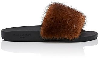 Givenchy Women's Mink Fur Slide Sandals - $595.00