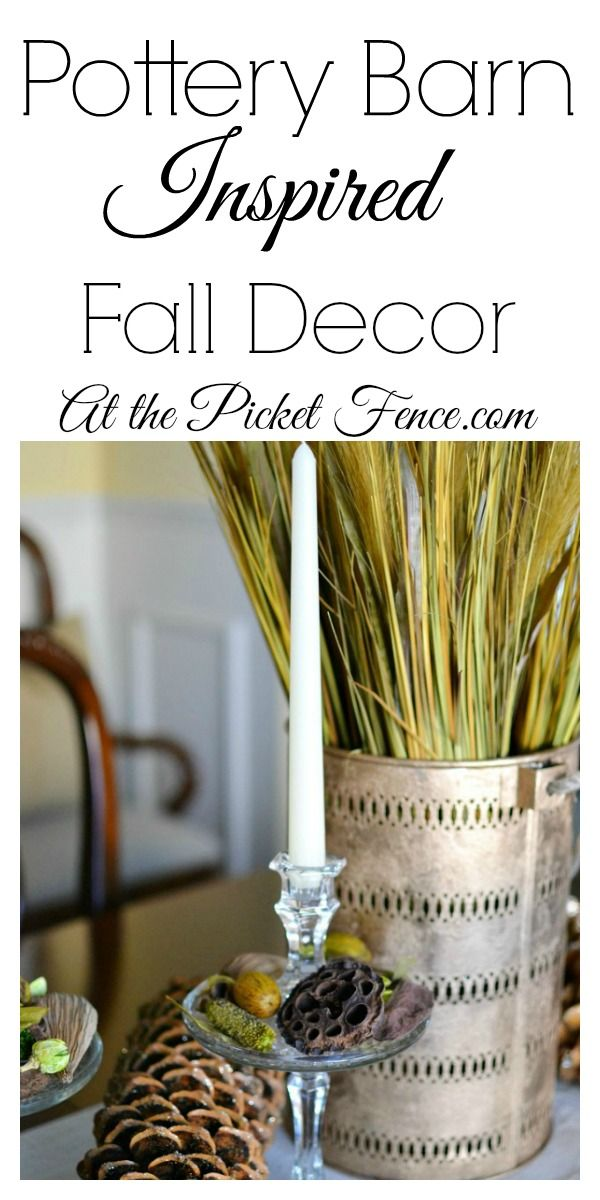 Pottery Inspired Fall Decor PB knock-off atthepicketfence.com