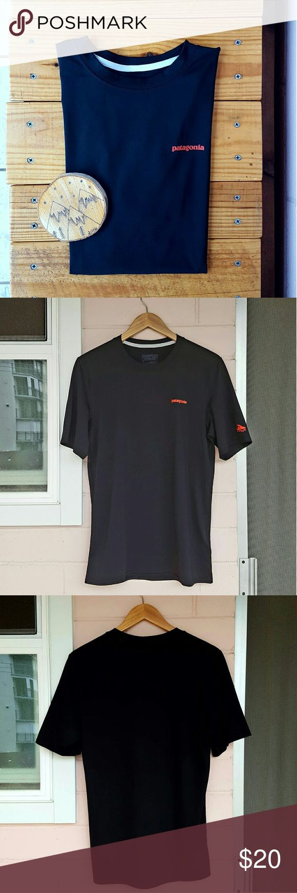 S BLACK PATAGONIA R0 SUN TEE *black tee *size small *stretchy polyester/elastane blend *euc - plenty of life left *comes from a smoke-FREE & pet-FREE home Patagonia Shirts Tees - Short Sleeve