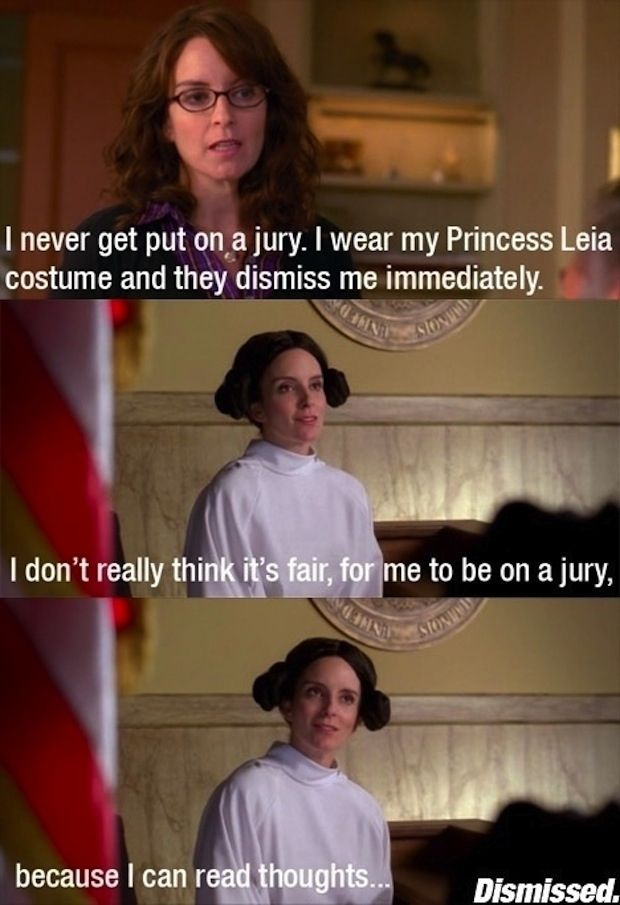 """The perfect method for getting out of jury duty: 