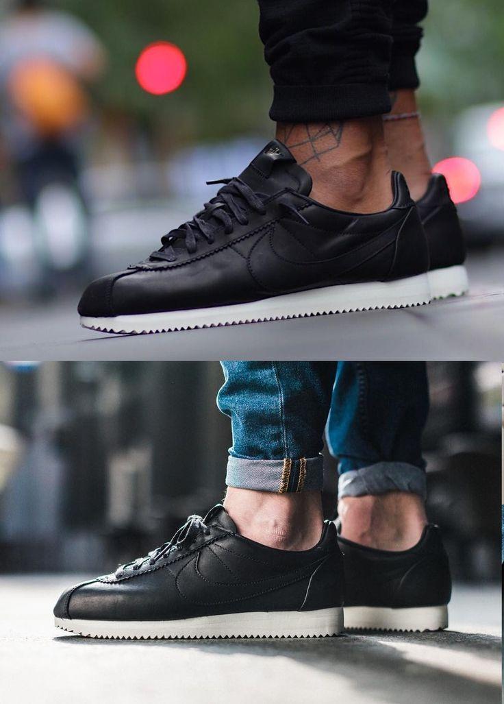 #Nike #Cortez #Leather PRM QS TZ 'Black'