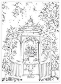 Garden Coloring Pages For Adults Secret Colouring