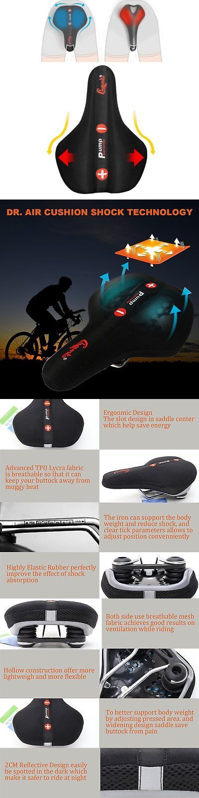 Saddle Covers Seat Covers 177838: Vinqliq Air Cushion Bike Bicycle Saddle Seat Innovative Design Extra Wide Gel -> BUY IT NOW ONLY: $40.13 on eBay!