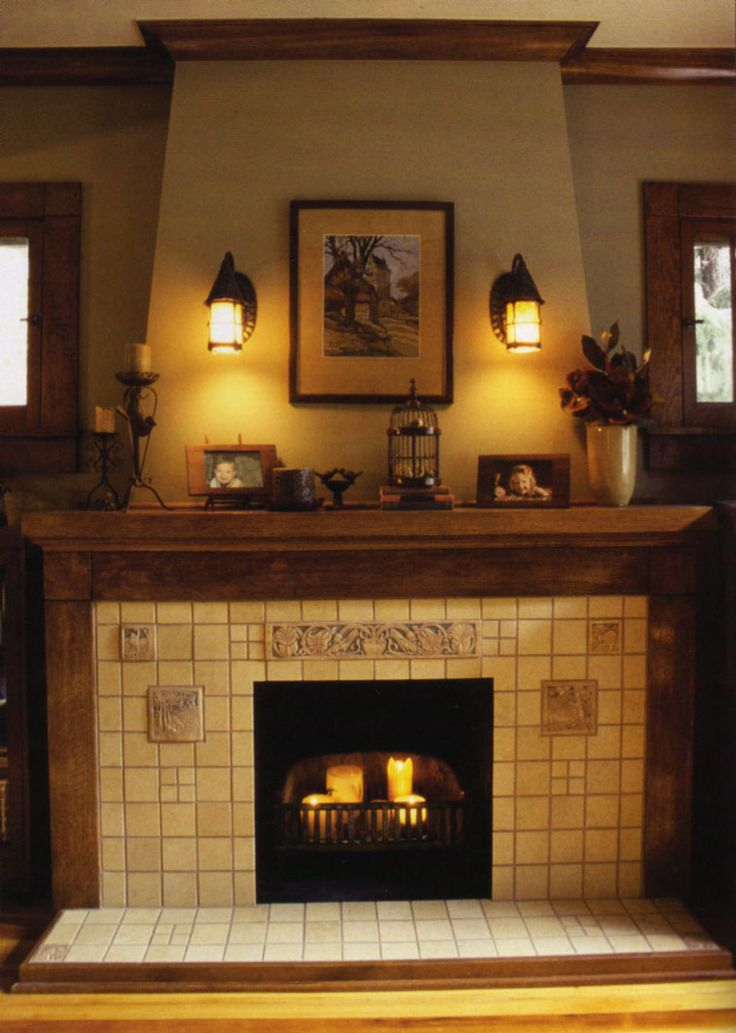 Tile Fireplace Mantels 25+ best craftsman fireplace ideas on pinterest | fireplace