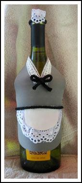 French Maid Wine Bottle Cover  by The Artfulcrafter at theartfulcrafter.com.