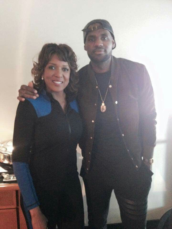 LeBron James With  Channel 19 News Anchor Ramona Robinson