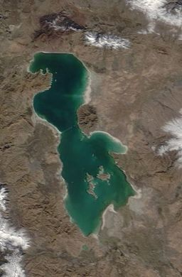 Lake Urmia in northwest Iran has started turning from green to red more frequently than scientists are comfortable with.