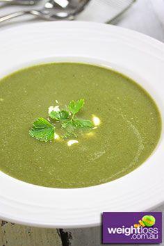 White Bean & Spinach Soup Recipe. #DietRecipes #WeightLossRecipes #SoupRecipes  weightloss.com.au