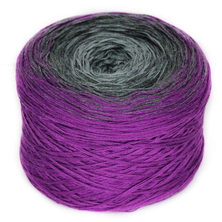 Regenbogen 35, Dark Night, hand-wound multi-coloured lace yarn, 4ply, – I Wool Knit