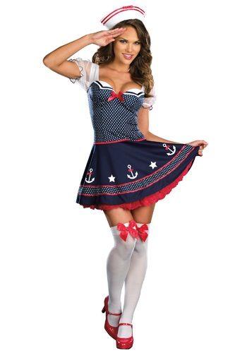 Sexy Polka Dot Sailor Costume