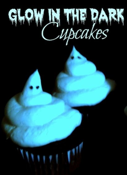 Glowing Ghost Cupcakes