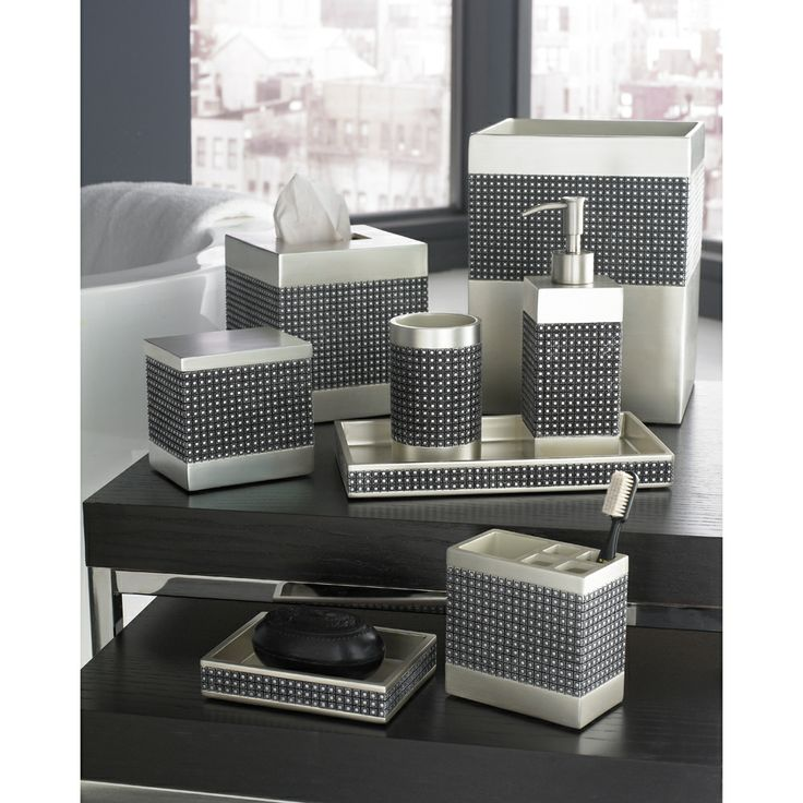 trump home parc east grid bath accessory collection by trump home