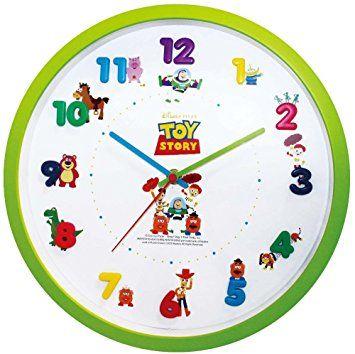Amazon.co.jp : Disney 壁掛け時計 アイコンウォールクロック アナログ表示 連続秒針 トイストーリー 734467 : ホーム&キッチン