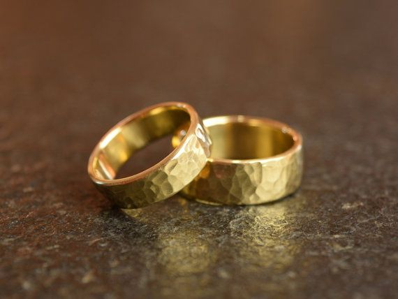 #WeddingBand #WeddingRing #HammeredBand #GoldBand #HammeredGoldRing #RingsSet #HammeredBrassRing #SetOfRings #HammeredRing #GoldHammeredRing