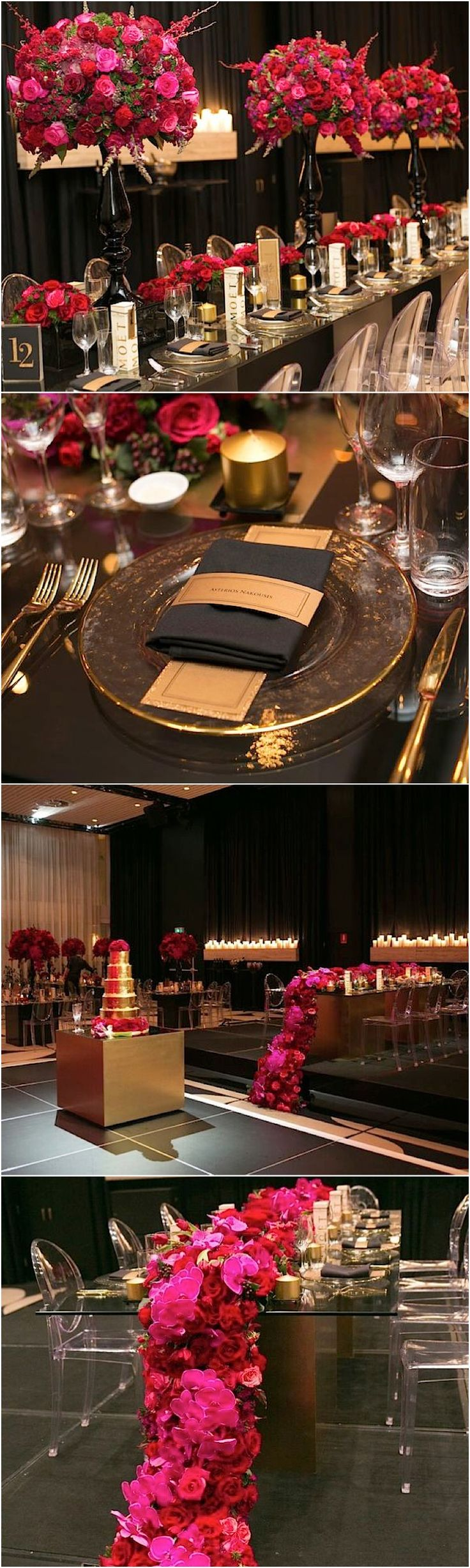 photo: Blumenthal Photography; Glamorous ballroom wedding reception idea