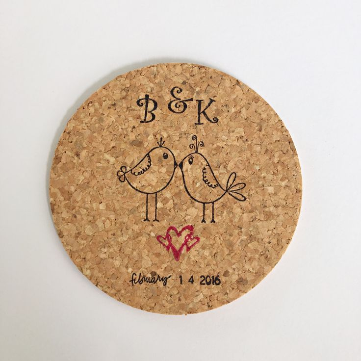 100 Love Birds Personalized Wedding Favors l Wedding Favor Coasters l Customized…