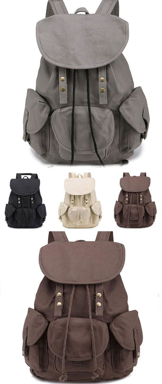 Unique High School Bag Leisure Student Travel Canvas Backpack for big sale