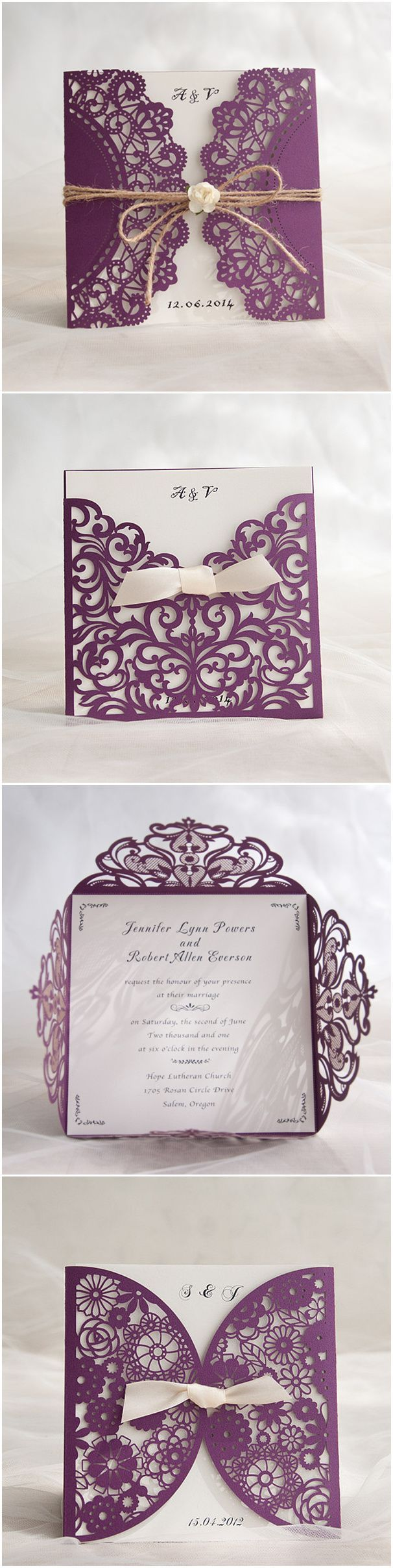 Affordable Laser Cut Wedding Invitations at elegantweddinginvitescom