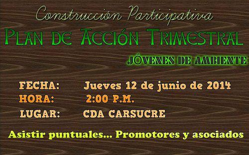 Jovenes de ambiente invitacion participativa