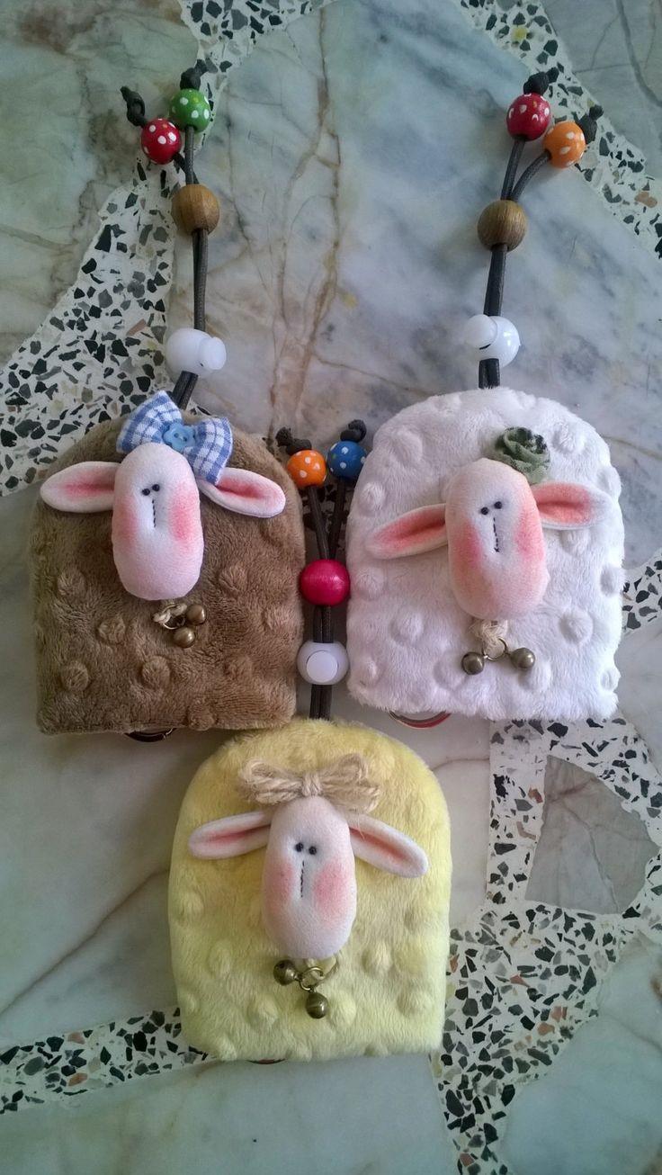 SHEEP key holder, key cover by Munkongshop on Etsy
