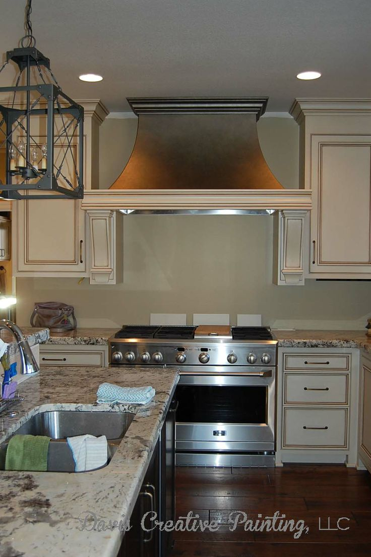 Wood Range Hood finish using 3 layers of Modern Masters ...