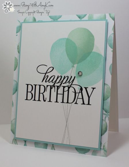 Happy Birthday, Everyone and  Balloon Celebrations stamp sets