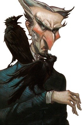 Count Olaf from the series of unfortunate events by lemony snickett. Really good books. Doesn't belong here. Oh well.
