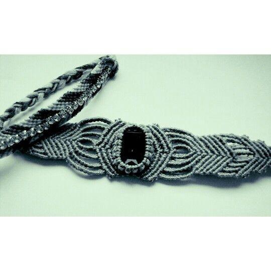 Hand made macrame bracelets
