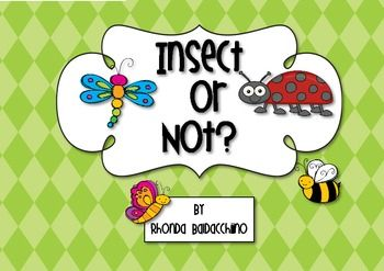 This freebie includes a cut and paste picture sort into insect or not an insect.There is also a simple worksheet for students to complete using t...