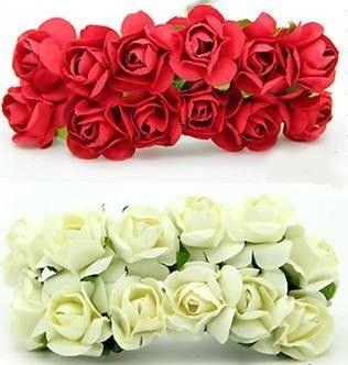 1440 Шт./лот 10 Цветов Смешанный Цвет 1.5 см Роуз Бумажные Цветы Свадьба Ремесла Подарки Принадлежности Фестиваль Декорации для Вечеринок