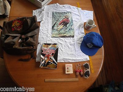 The Rocketeer Movie backpack hat pin mug sunglasses t-shirt keychain pre-release