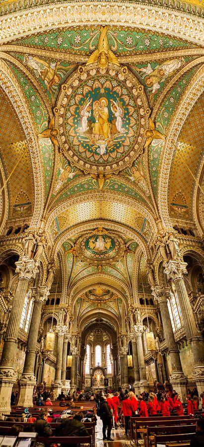 Basilique Notre Dame de Fourvière, Lyon by Christopher Waddell, via 500px.