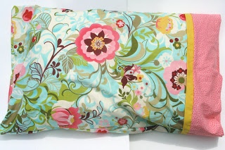 diy pillow case ... love this! you could use old sun dresses for the fabric