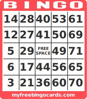 1-75 Number Bingo Cards Printable and Mobile                                                                                                                                                                                 More
