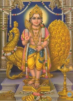 5.21.16. Commander of Deva Army. Lord Muruga or murugan, the Son of Shiva and Shakti Mount: Peacock.