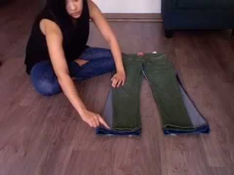 How to make Skinny Jeans from Flare or Boot Cut Jeans! Quick and Easy DIY! - YouTube i have tried this out and it actually works!