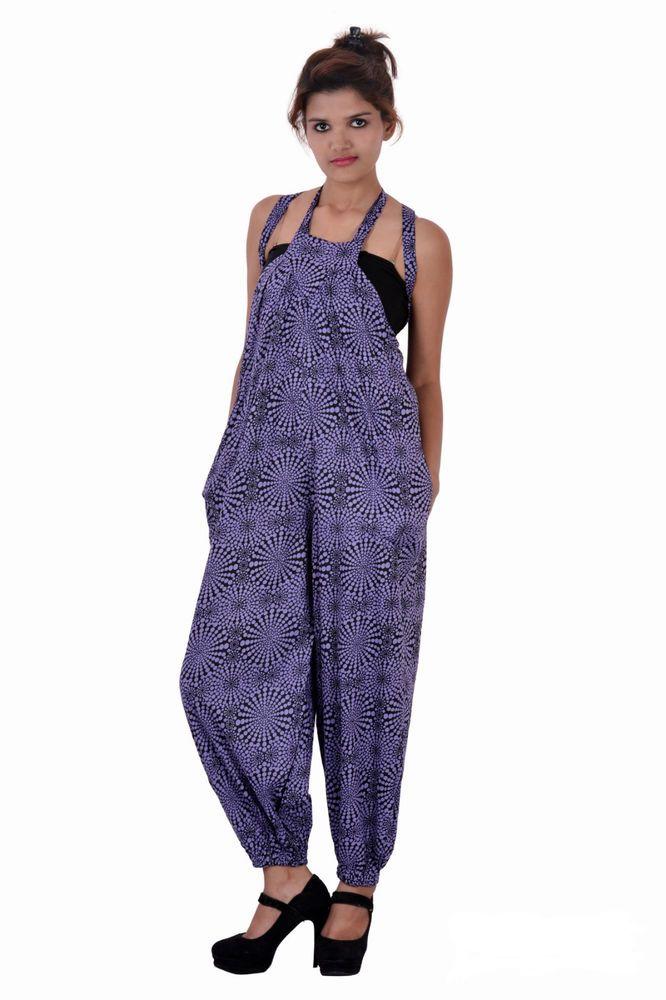 Cotton Printed Purple Playsuit Party Evening Summer Dress Jumpsuit Long Romper #Uttam #JumpsuitNRomper