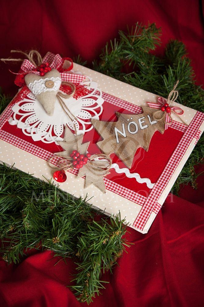 Χριστουγεννιάτικο χειροποίητο βιβλίο ευχών για βάπτιση, Handcrafted guest book #Christmasdecorations #guestbooks #Christmas